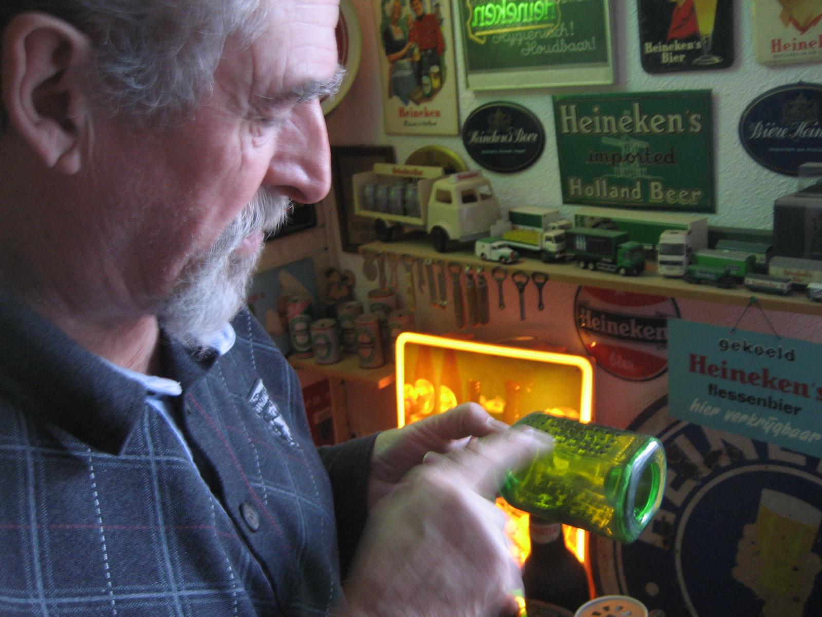 Het bouwflesje van Freddy Heineken.  Foto: Joris Zwetsloot