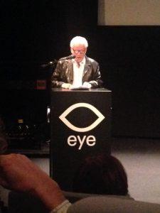 Willy Lindwer tijdens de première van Rebelse Stad (Foto: Doortje Smithuijsen)