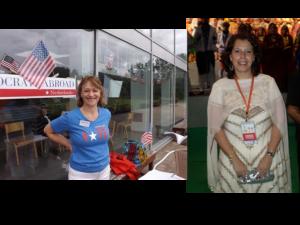 vlnr: Martha McDevitt-Pugh en Renee Nielsen