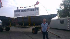 Jan Huisman voor zijn volgende project op de NDSM-werf (bron: Fabian de Bont)